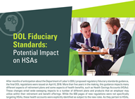 Learn more about the potential impace of DOL Fiduciary Standards Guidance  - Whitepaper